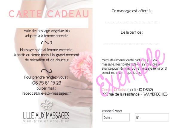 maternite massage carte